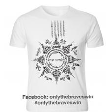 Tattoo Art T Shirt : Eight Dimensions of Wellness & Five Row Yantra Writing